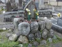 墓石回収撤去工事前